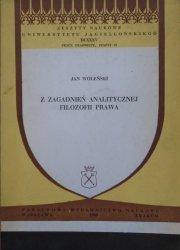 Jan Woleński • Z zagadnień analitycznej filozofii prawa [dedykacja autorska]