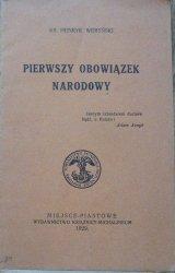 ks. Henryk Weryński • Pierwszy obowiązek narodowy [1929]
