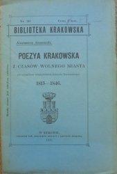 Kazimierz Sosnowski • Poezya krakowska z czasów wolnego miasta (ze szczególnem uwzględnieniem Edmunda Wasilewskiego) 1815-1846