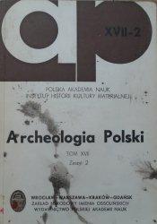 Archeologia Polski tom XVII zeszyt 2 [kultura trzciniecka, ceramika]