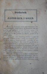 Dodatek do Pastorałek i Kolęd [1852]