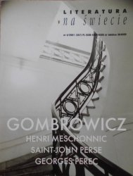 Literatura na świecie 4/2001 • Witold Gombrowicz, Henri Meschonnic, Saint-John Perse, Georges Perec