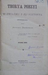 Antoni Bądzkiewicz • Teorya poezyi w związku z jej historyą opowiedziana [1875]