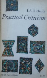 I.A.Richards • Practical Criticism. A Study of Literary Judgment