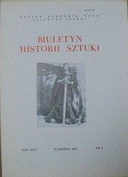 Biuletyn Historii Sztuki 2/1980 • [Bal 'Młodej Sztuki', wnętrza sakralne, Jerzy Ertli, rzeźba legnicka]