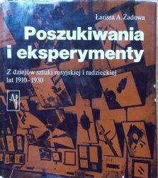 Łarissa A. Żadowa • Poszukiwania i eksperymenty. Z dziejów sztuki rosyjskiej i radzieckiej lat 1910-1930 [awangarda]