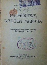 Emil Vandervelde • Proroctwa Karola Marksa [1923] [socjalizm]