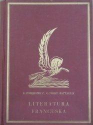 Edward Porębowicz, Otto Forst Battaglia • Literatura francuska [1933]