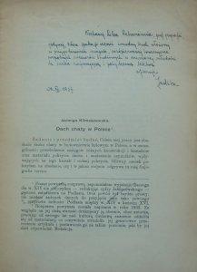 Jadwiga Klimaszewska • Dach chaty w Polsce [dedykacja autorki]