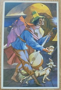 Zofia Stryjeńska • Śpiewak wędrowny [pocztówka]