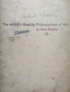 Mark Rothko • The Artist's Reality. Philosophies of Art