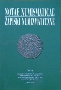 Zapiski numizmatyczne tom IX [numizmatyka]
