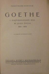 Ferdynand Hoesick • Goethe i najpiękniejsze dni w jego życiu 1814-1832