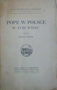 Michał Dadlez • Pope w Polsce w XVIII wieku