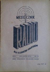 Radio. Miesięcznik dla techników i amatorów 7-8/1947