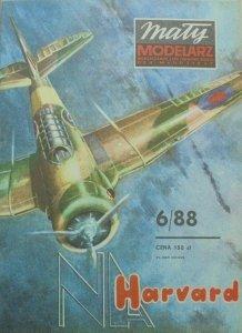 Mały Modelarz 6/1988 • Samolot szkolno-treningowy HARVARD MK-IIB