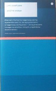 J.M. Coetzee • Późne eseje 2006-2017
