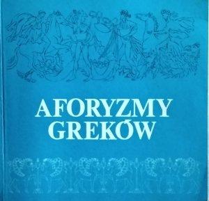 Nikos Chadzinikolau • Aforyzmy Greków