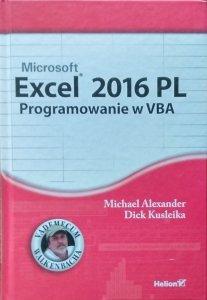 Michael Alexander • Excel 2016 PL. Programowanie w VBA
