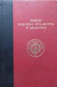 Stanisław Hr. Małachowski-Łempicki • Dzieje wolnego mularstwa w Krakowie 1755-1822