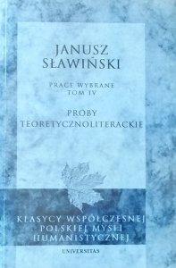Janusz Sławiński • Próby teoretycznoliterackie