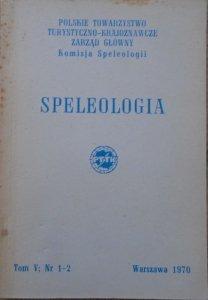 Speleologia tom V nr 1-2/1970