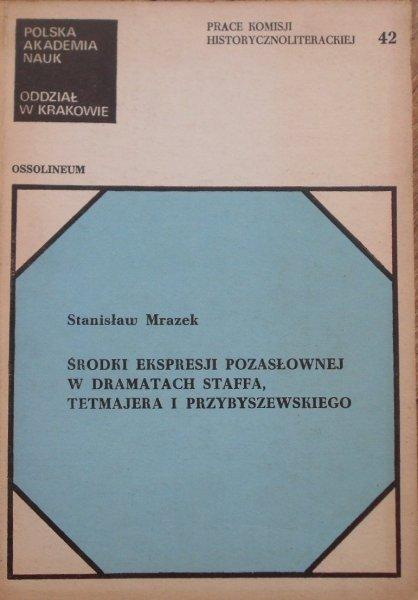 Stanisław Mrazek • Środki ekspresji pozasłownej w dramatach Staffa, Tetmajera i Przybyszewskiego