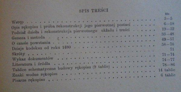Wanda Semkowicz-Zarembina • Powstanie i dzieje autografu Annalium Jana Długosza