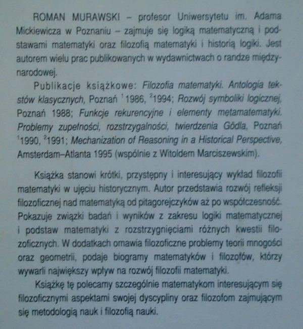 Roman Murawski • Filozofia matematyki. Zarys dziejów