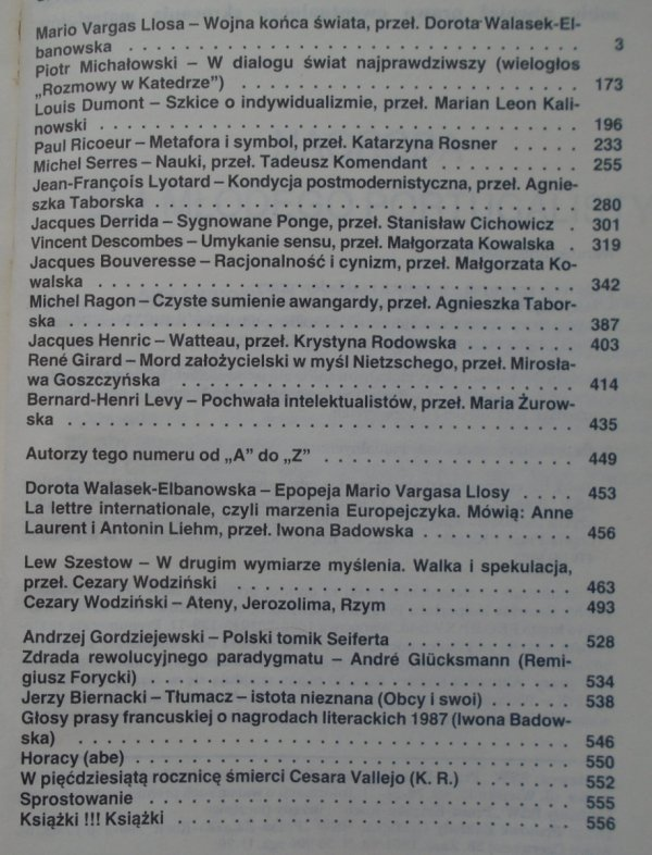 Literatura na świecie 8-9/1988 • [Derrida, Ricouer, Lyotard, Girard]