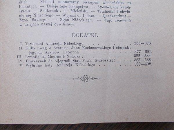 Kazimierz Morawski • Andrzej Patrycy Nidecki, jego życie i dzieła