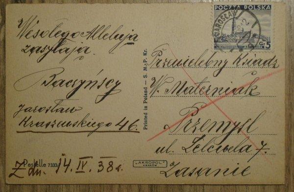 pocztówka Wesołego Alleluja! [1938]