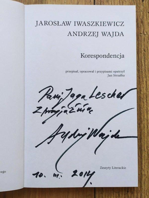 Jarosław Iwaszkiewicz, Andrzej Wajda Korespondencja [dedykacja autorska]