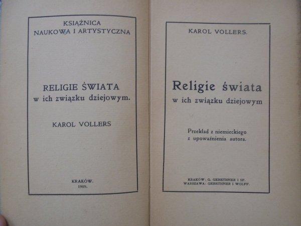 Dr. Karol Vollers • Religie świata w ich związku dziejowym