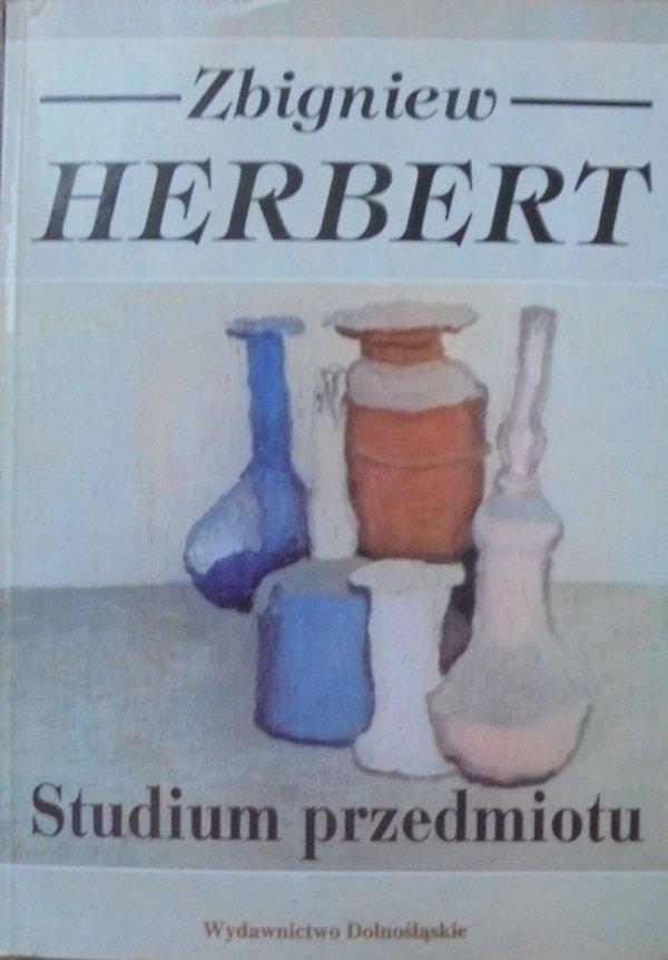 Zbigniew Herbert • Studium przedmiotu