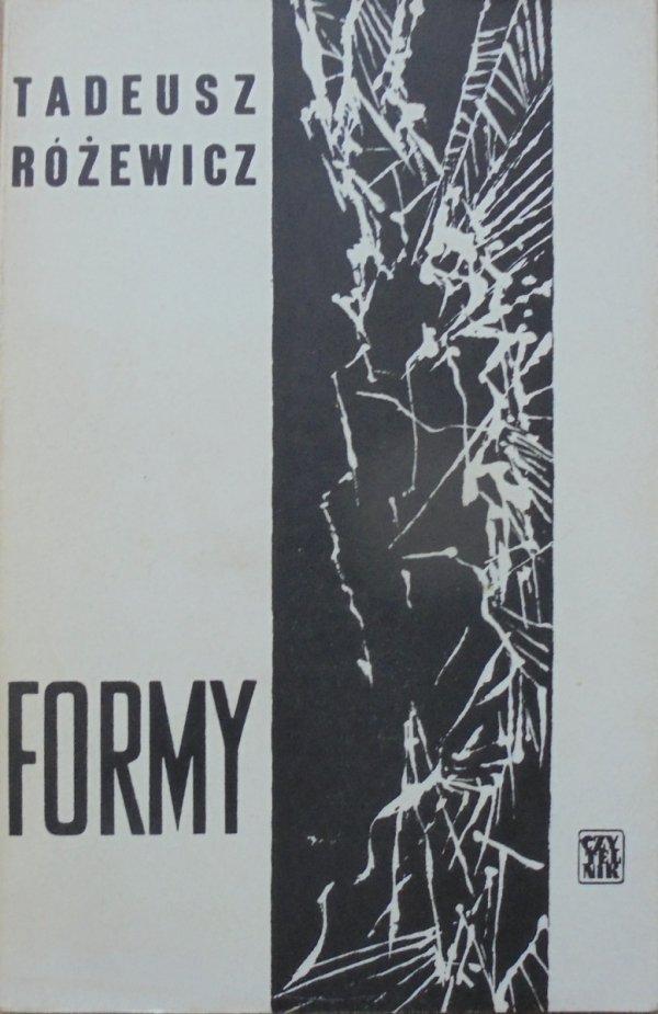 Tadeusz Różewicz • Formy [Jerzy Tchórzewski]