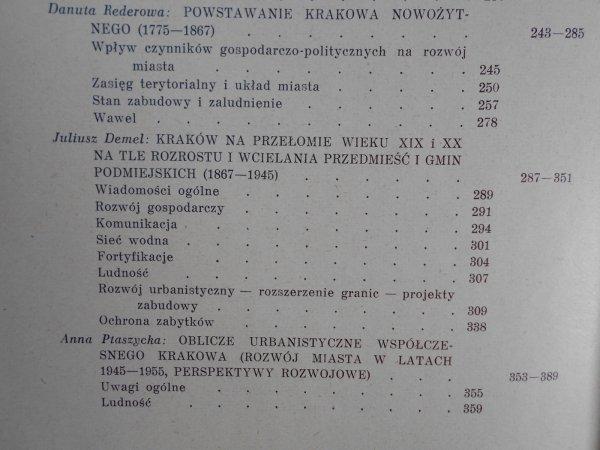 red. Jan Dąbrowski • Kraków. Studia nad rozwojem miasta