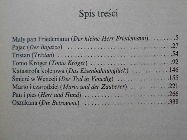 Tomasz Mann • Opowiadania [Nobel 1929]