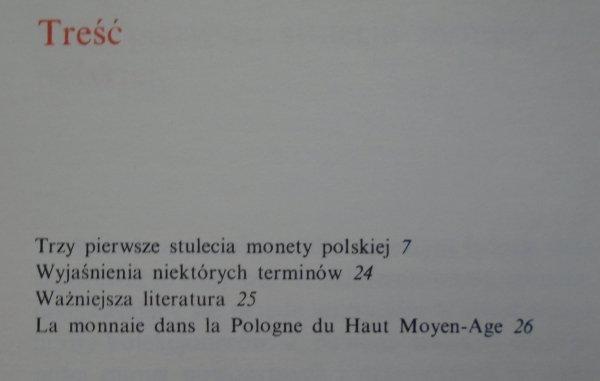 Stanisław Suchodolski • Denar w Kalecie. Trzy pierwsze stulecia monety polskiej