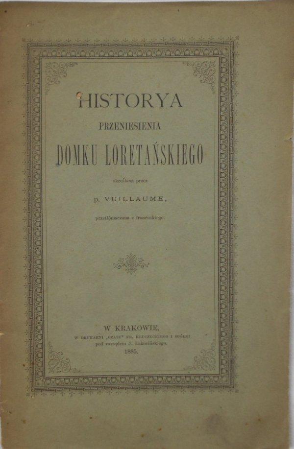 p. Vuillaiume • Historya przeniesienia domku loretańskiego [1885]