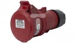 Gniazdo przenośne 16A 5P 400V czerwone IP44 TOP SpeedPRO 23301
