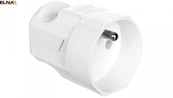 Gniazdo przenośne 16A 2P+Z 250V białe GN-170