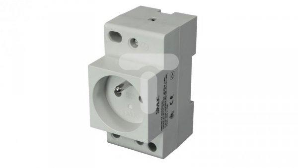 Gniazdo serwisowe 2P+PE 16A 230V na szynę montażową MRD50-16 89066006