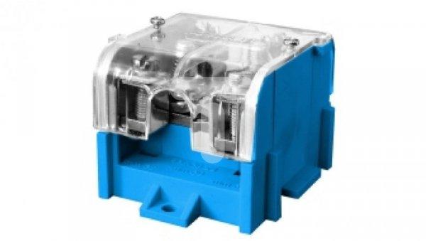 Odgałęźnik instalacyjny 1-segmentowy (zacisk: 1x95mm2 - 4x35mm2)/ z pokrywą niebieski LZ 1*95/35P 84063003