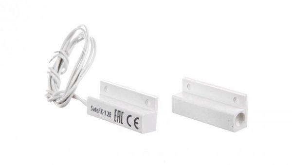 Czujka kontaktronowa systemu alarmowego nawierzchniowa magnetyczna biała K1BI2E