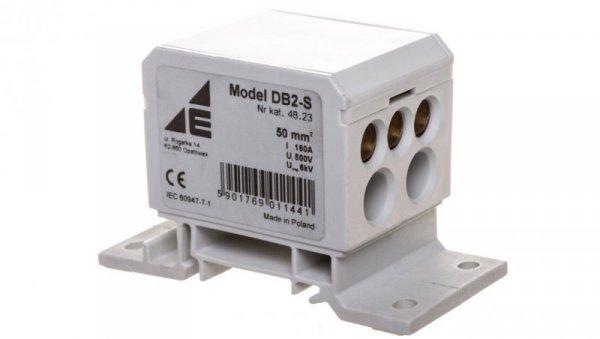 Blok rozdzielczy 2x4-50mm2 + 2x4-35mm2 + 3x2,5-25mm2 szary DB2-S 48.23
