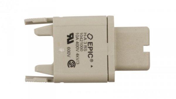 Wkład złącza 3P+PE żeński 23A 400V EPIC H-A 3 BS 10421000