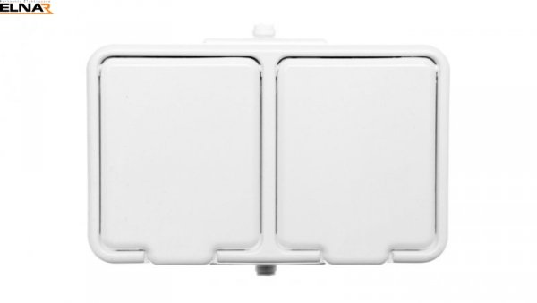 Cedar Gniazdo hermetyczne podwójne z PE 16A IP44 biały GWN240PC01
