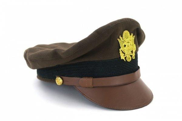MC048 OFICERSKA CZAPKA USA US ARMY II WOJNA ŚWIATOWA