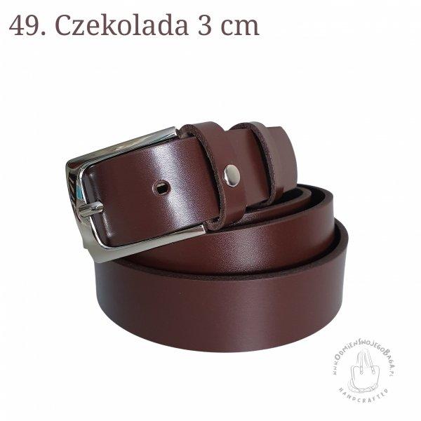 Pasek do spodni skóra 3cm
